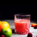 Citrusdrik med gulerod & hindbær