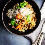 Rugotto med rodfrugter og varme krydderier