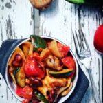 Stegte grøntsager med chilibønner & tortellini