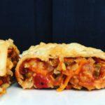 Pandekagepakker med cremet fyld af grønsager & røde linser