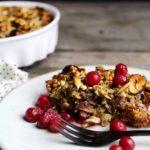 Bagt grød med ribs & karameliserede nødder