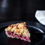 Rabarbertærte med mandelbund & marcipanlåg