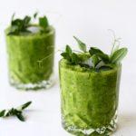 Grøn gazpacho med edamamebønner