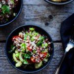 Quinoatabouleh med edamamebønner