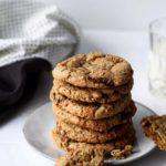 Sundere cookies med mørk chokolade & mandler