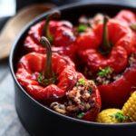Yemista med fuldkornsris & quinoa