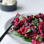 Rødbederet med perlebyg & quinoa