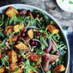 Salat med ovnbagt, sød kartoffel