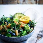 Linsepastasalat med quinoa