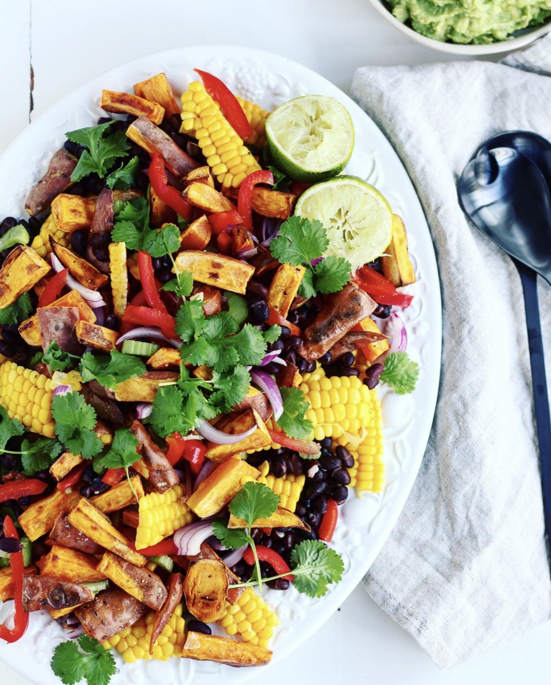 Mexi-salat med sød kartoffel