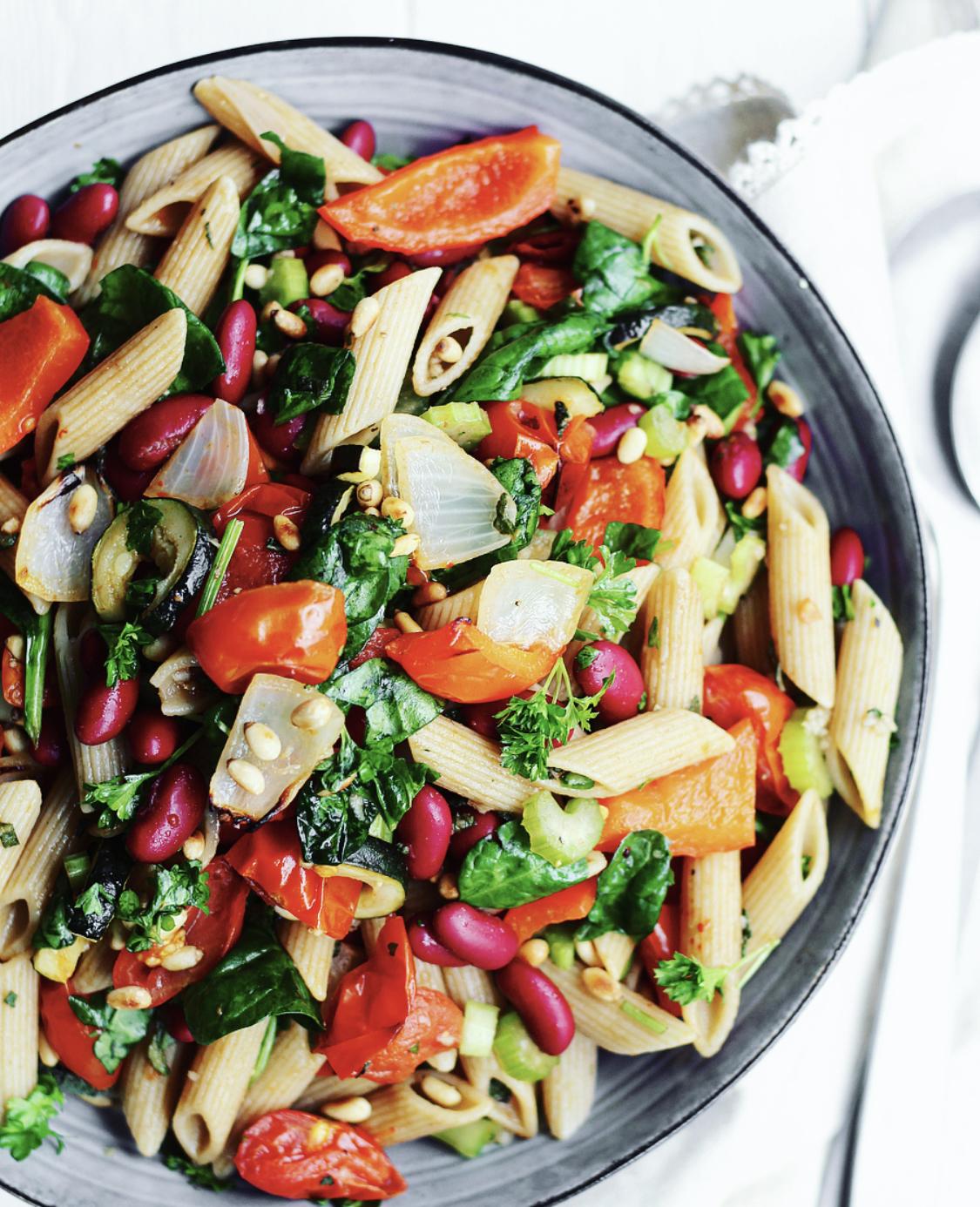 Pasta e fagioli-salat