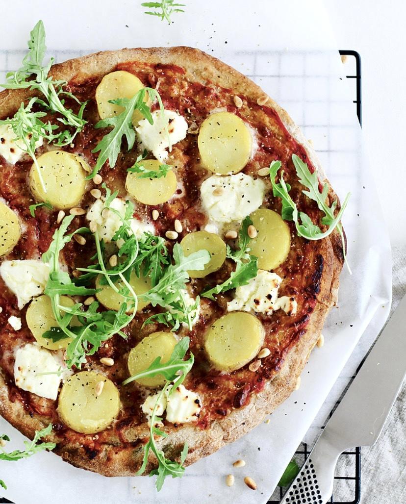 Pizza Nadia ~ kartoffelpizza med trøffelolie
